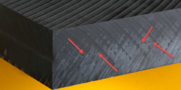 Black Delrin Material With Porosity
